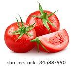 Tomato Isolated On White...