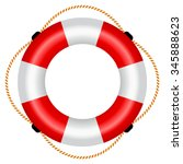 life raft icon  vector... | Shutterstock .eps vector #345888623