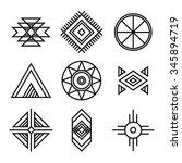 native american indians tribal... | Shutterstock .eps vector #345894719