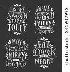a set of chalkboard style... | Shutterstock .eps vector #345902993