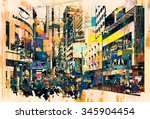 Abstract Art Of Cityscape...