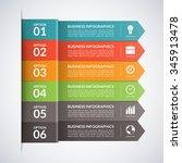 arrow business infographics...   Shutterstock .eps vector #345913478