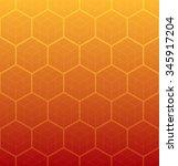 cubic pattern. hexagons pattern.... | Shutterstock .eps vector #345917204