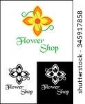 flowers logo   Shutterstock .eps vector #345917858