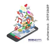 mobile smartphone services and... | Shutterstock . vector #345918689