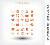 medical icons set | Shutterstock .eps vector #345928766