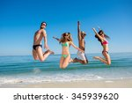 guys and girls at the resort.... | Shutterstock . vector #345939620
