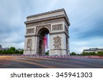 arc de triomphe in paris  france | Shutterstock . vector #345941303