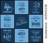 set of vintage fishing... | Shutterstock .eps vector #345942158