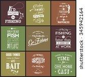 set of vintage fishing... | Shutterstock .eps vector #345942164
