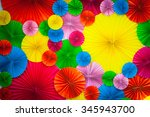 colorful paper background | Shutterstock . vector #345943700