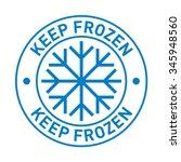 keep frozen. storage in... | Shutterstock .eps vector #345948560