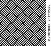 vector seamless rhombus weaving ... | Shutterstock .eps vector #345949310