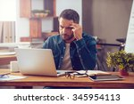 full concentration on work.... | Shutterstock . vector #345954113
