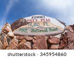 Pikes Peak Mountain Colorado, 2015 - stock photo