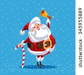 santa claus for christmas.... | Shutterstock .eps vector #345955889