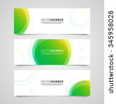 set of vector banners design... | Shutterstock .eps vector #345958028