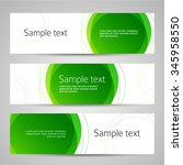 set of vector banners design... | Shutterstock .eps vector #345958550