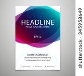 vector brochure cover design... | Shutterstock .eps vector #345958649