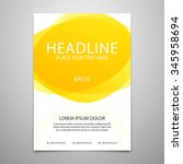 vector brochure cover design... | Shutterstock .eps vector #345958694