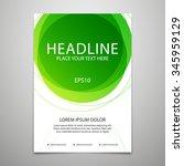 vector brochure cover design... | Shutterstock .eps vector #345959129