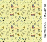 business doodle pattern for... | Shutterstock .eps vector #345960443
