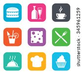 food  drink icons. coffee and... | Shutterstock . vector #345961259