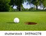 Golf Ball On The Green Close T...