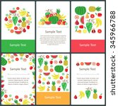 vector set of prepared cards on ... | Shutterstock .eps vector #345966788