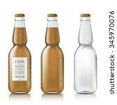 transparent glass beer bottle.... | Shutterstock . vector #345970076