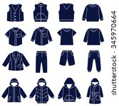 Icon Set Of Types Of Clothes...