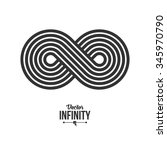 infinity symbol icon or logo... | Shutterstock .eps vector #345970790