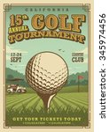 Vintage Golf Poster With A Golf ...