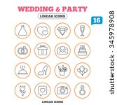 wedding and party icons. dress  ... | Shutterstock . vector #345978908