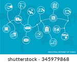 industrial internet of things ... | Shutterstock .eps vector #345979868
