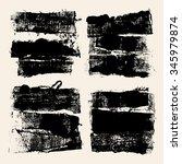 grunge textures. set of high... | Shutterstock .eps vector #345979874