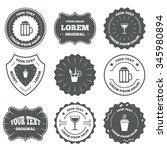vintage emblems  labels. drinks ... | Shutterstock . vector #345980894