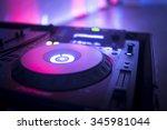 dj console cd mp4 deejay mixing ... | Shutterstock . vector #345981044