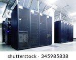 rackserver hardware in the data ... | Shutterstock . vector #345985838