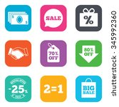 sale discounts icon. shopping ... | Shutterstock . vector #345992360