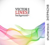 abstract vector rainbow.... | Shutterstock .eps vector #345996248