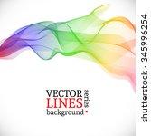 abstract vector rainbow.... | Shutterstock .eps vector #345996254