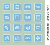 home appliance web icons set | Shutterstock .eps vector #345997544