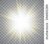 glow light effect. star burst... | Shutterstock .eps vector #346002284