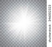glow light effect. star burst... | Shutterstock .eps vector #346002323