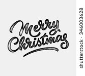 merry christmas  xmas badge ... | Shutterstock .eps vector #346003628