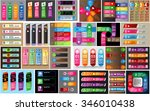 colorful modern text box... | Shutterstock .eps vector #346010438
