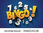 creative abstract bingo jackpot ... | Shutterstock .eps vector #346014128