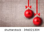 Red Christmas Ball Isolated On...