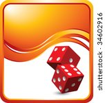 red dice on modern style wave...   Shutterstock .eps vector #34602916
